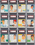 Baseball Cards:Lots, 1954 Red Man Baseball With Tabs PSA Collection (12). ...