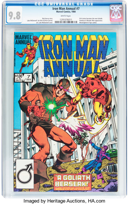 Iron Man Annual #7 (Marvel, 1984) CGC NM/MT 9.8 White pages....