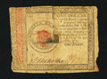 Colonial Notes:Continental Congress Issues, Continental Currency January 14, 1779 $1 Fine.. ...