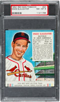 Baseball Cards:Singles (1950-1959), 1952 Red Man Enos Slaughter #20 PSA NM-MT 8 - Only One Higher. ...