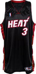 Basketball Collectibles:Uniforms, 2005-06 Dwyane Wade Game Worn Miami Heat Jersey....