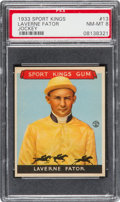 Baseball Cards:Singles (1930-1939), 1933 Goudey Sport Kings Laverne Fator #13 PSA NM-MT 8. ...