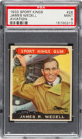 Baseball Cards:Singles (1930-1939), 1933 Goudey Sport Kings James Wedell #26 PSA Mint 9 - PopOne, None Higher. ...