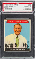 Baseball Cards:Singles (1930-1939), 1933 Goudey Sport Kings Gene Sarazen #22 PSA NM-MT 8. ...