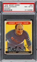 Baseball Cards:Singles (1930-1939), 1933 Goudey Sport Kings Irvin Johnson #30 PSA NM-MT 8. ...