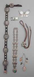 American Indian Art:Jewelry and Silverwork, SIX SOUTHWEST JEWELRY ITEMS... (Total: 6 Items)