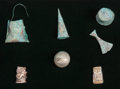 Pre-Columbian:Metal/Gold, Seven Chimu Forms and Beads... (Total: 6 Items)