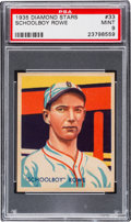 Baseball Cards:Singles (1930-1939), 1934-36 Diamond Stars Schoolboy Rowe #33 PSA Mint 9. ...