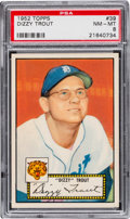 Baseball Cards:Singles (1950-1959), 1952 Topps Dizzy Trout, Red Back #39 PSA NM-MT 8 - None Higher! ...