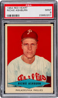 Baseball Cards:Singles (1950-1959), 1954 Red Heart Richie Ashburn PSA Mint 9 - None Higher. ...