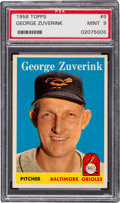 Baseball Cards:Singles (1950-1959), 1958 Topps George Zuverink #6 PSA Mint 9 - None Higher. ...