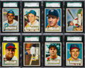 Baseball Cards:Lots, 1952 Topps Baseball SGC 88 NM/MT 8 Collection (13). ...