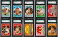 Baseball Cards:Lots, 1959 Topps Baseball (#'s 1-110) SGC 96 MINT 9 Collection (32). ...