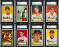 Baseball Cards:Lots, 1952 Topps Baseball SGC 84 and 80 Collection (12). ...