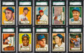Baseball Cards:Lots, 1952 Topps Baseball SGC 88 NM/MT 8 Low Number Collection (10). ...