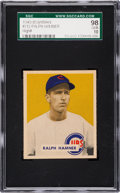Baseball Cards:Singles (1940-1949), 1949 Bowman Ralph Hamner #212 SGC 98 Gem 10 - The Ultimate SGC Example! ...