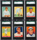 Baseball Cards:Lots, 1933 Goudey Baseball SGC 86 NM+ 7.5 Collection (6) With HoFers. ...
