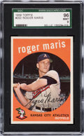 Baseball Cards:Singles (1950-1959), 1959 Topps Roger Maris #202 SGC 96 Mint 9 - Pop Two, NoneHigher....
