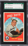 Baseball Cards:Singles (1950-1959), 1959 Topps Yogi Berra #180 SGC 96 Mint 9 - Pop Two, None Higher....