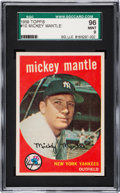 Baseball Cards:Singles (1950-1959), 1959 Topps Mickey Mantle #10 SGC 96 Mint 9 - The Reigning SGC Champion! ...