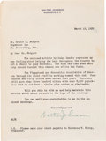 Baseball Collectibles:Others, 1925 Walter Johnson Signed Letter....