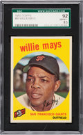 Baseball Cards:Singles (1950-1959), 1959 Topps Willie Mays #50 SGC 92 NM/MT+ 8.5....