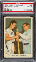 Baseball Cards:Singles (1950-1959), 1959 Fleer Ted Williams - Ted's Idol - Babe Ruth #2 PSA Mint9....