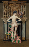 Pin-up and Glamour Art, ROBERT MCGINNIS (American, b. 1926). Jade. Oil on board. 23x 14.5 in. (sight). Signed and titled verso. ...