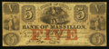 Obsoletes By State:Ohio, Massillon, OH- The Bank of Massillon $5 Jan. 1, 1852 G8b. ...
