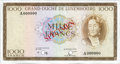 Luxembourg, Luxembourg: Grand Duche de Luxembourg Specimen 1000 Francs ND(1961-3),...