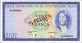 Luxembourg, Luxembourg: Grand Duche de Luxembourg Specimen 500 Francs ND(1961-3),...