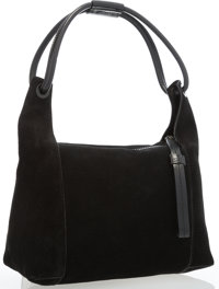 "Gucci Black Suede Shoulder Bag Very Good Condition 7"" Width x 7.5"" Height x 6"" Depth, 6"" Shoulde"