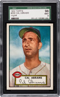 Baseball Cards:Singles (1950-1959), 1952 Topps Cal Abrams #350 SGC 96 Mint 9 - Pop One, Finest SGCExample! ...