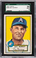 Baseball Cards:Singles (1950-1959), 1952 Topps Ray Murray #299 SGC 96 Mint 9 - Pop One, Finest SGCExample! ...