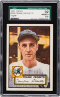 Baseball Cards:Singles (1950-1959), 1952 Topps Frank Crosetti #384 SGC 92 NM/MT+ 8.5 - Pop One, None Higher! ...