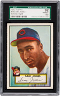 Baseball Cards:Singles (1950-1959), 1952 Topps Sam Jones #382 SGC 92 NM/MT+ 8.5 - Pop One, None Higher! ...