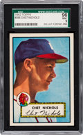 Baseball Cards:Singles (1950-1959), 1952 Topps Chet Nichols #288 SGC 96 Mint 9 - Pop Three, NoneHigher! ...