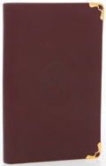 "Luxury Accessories:Accessories, Cartier Burgundy Leather Must de Cartier Bifold Wallet. VeryGood Condition. 3.5"" Width x 5.5"" Height x .5"" Depth...."