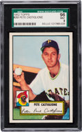 Baseball Cards:Singles (1950-1959), 1952 Topps Pete Castiglione #260 SGC 96 Mint 9 - Pop One, FinestSGC Example! ...