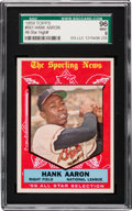 Baseball Cards:Singles (1950-1959), 1959 Topps Hank Aaron All-Star #561 SGC 96 Mint 9 - Finest SGC Example! ...