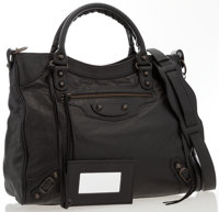 "Balenciaga Classic City Black Leather Tote Bag Good Condition 12"" Width x 11.5"" Height x 5"" Depth"