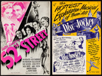 "52nd Street & Others Lot (United Artists, 1937). Cut Pressbooks (5) (Multiple Pages, 11"" X 15"", 11"" X..."