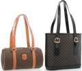 "Luxury Accessories:Accessories, Celine Set of Two; Brown Monogram Canvas & Black and BrownMonogram Canvas Tote Bags. Good to Very Good Condition.9"" ... (Total: 2 Items)"