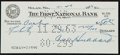Football Collectibles:Others, 1963 Cal Hubbard Signed Check - Only Man in Both Baseball and Football Halls of Fame!...