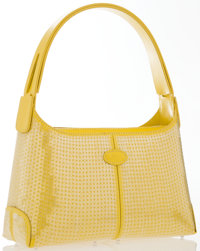 "Tod's Yellow Leather Sequin Classic Hobo Bag Excellent Condition 8"" Width x 4.5"" Height x 3"" Dept"