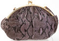 """Luxury Accessories:Bags, Judith Leiber Lavender Snakeskin Shoulder Bag. Good to Very GoodCondition. 15"""" Width x 11"""" Height x 1"""" Depth, 18"""" Sho..."""