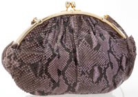 "Judith Leiber Lavender Snakeskin Shoulder Bag Good to Very Good Condition 15"" Width x 11"" Height"