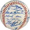 Autographs:Baseballs, 1966 National League All-Star Team Signed Baseball....