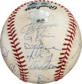 Baseball Collectibles:Balls, 2009 New York Yankees American League Championship Series Game Six Game Used & Team Signed Baseball....