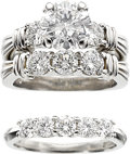 Estate Jewelry:Rings, Diamond, Platinum Ring Set, Scott Kay. ...